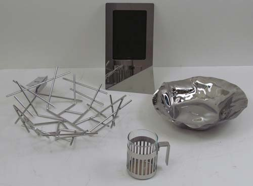 9: COLLECTION OF ALESSI STAINLESS STEEL TABLE ARTICLES