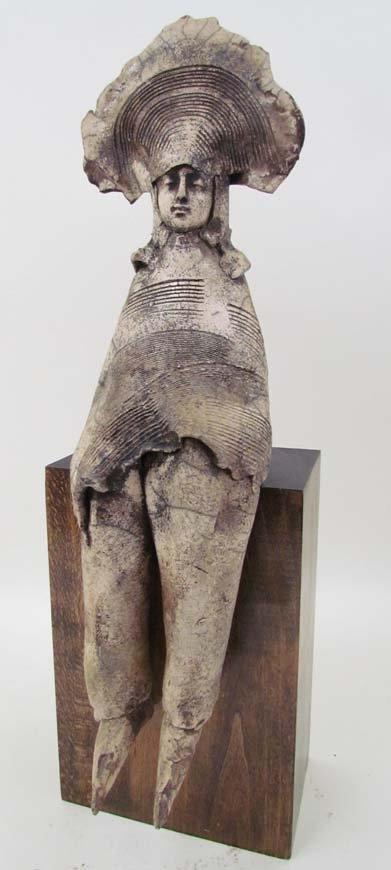 12: Greg Kavalec Medieval Figure ceramic Sculpture