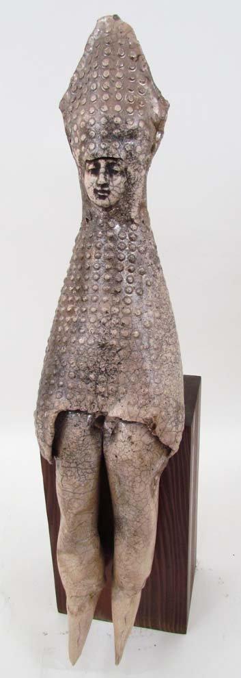 13: Greg Kavalec Medieval Inspired Figure ceramic Sculp