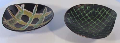 14: Pair of 1940's Abstract Ceramic Bowls