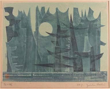 217: Joichi Hoshi and Kaoru Kawano woodcuts 1950's