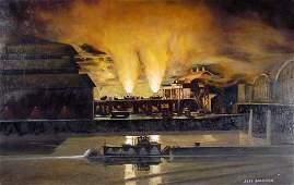 269: Jeff Madden Blast Furnace at McKeesport painting
