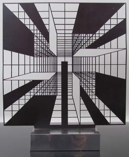 """271: Estuardo Maldonado sculpture relief """"NE 11"""""""