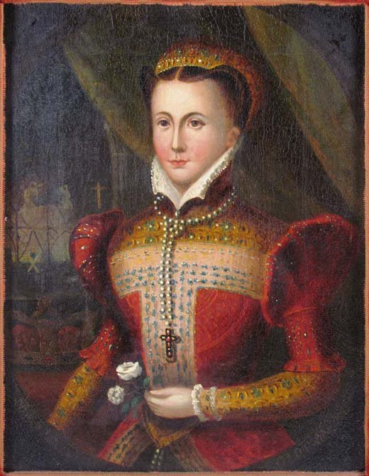 Continental School Portrait of Mary Queen of Scots