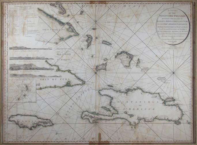 William Faden 1795 Antique Map of Jamaica, Hispaniola