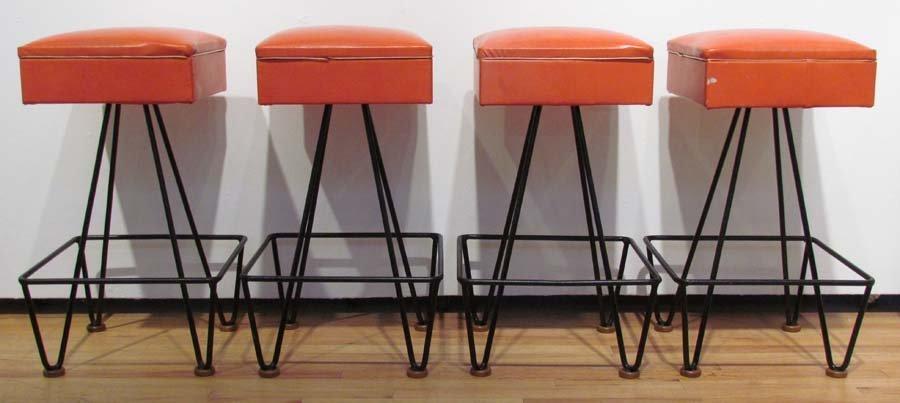 Set of 4 1950's Barstools by Dorothy Schindele