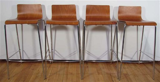 Super Set Of 4 Contemporary Molded Wood Bar Stools Beatyapartments Chair Design Images Beatyapartmentscom