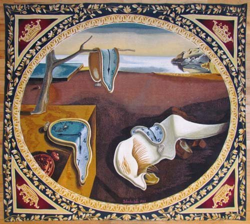 """Salvador Dali Tapestry """"The Persistence of Memory"""""""