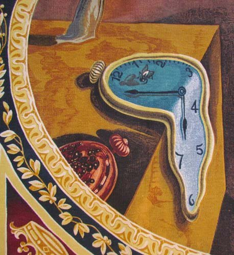 """Salvador Dali Tapestry """"The Persistence of Memory"""" - 6"""