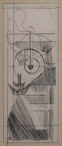 """Marcel Duchamp etching """"Coffee Mill"""" from cancelled pl"""