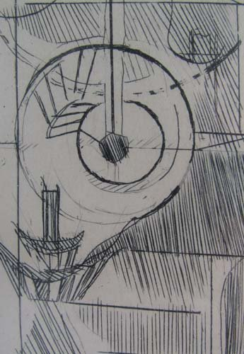 """Marcel Duchamp etching """"Coffee Mill"""" from cancelled pl - 4"""