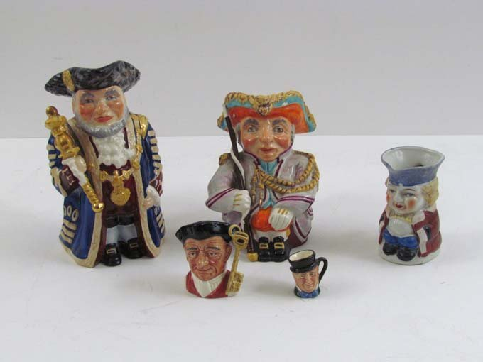 Group of 5 Assorted Toby Jugs