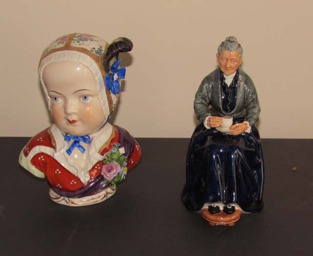 Pair Royal Doulton and Dresden Figurines