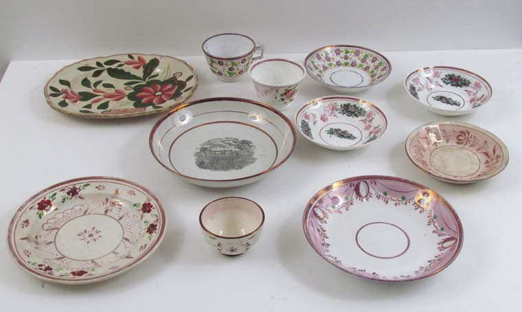 Assorted Misc group of Antique Lustre Ware