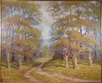 Early 20th Century Impressionist Spring Landscape