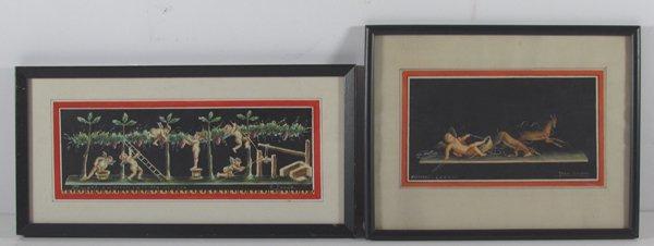 Giovanni Gallo Pompeii watercolor & After Gallo