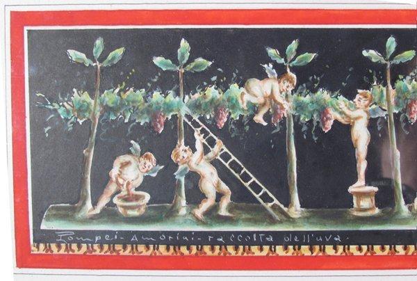 Giovanni Gallo Pompeii watercolor & After Gallo - 4