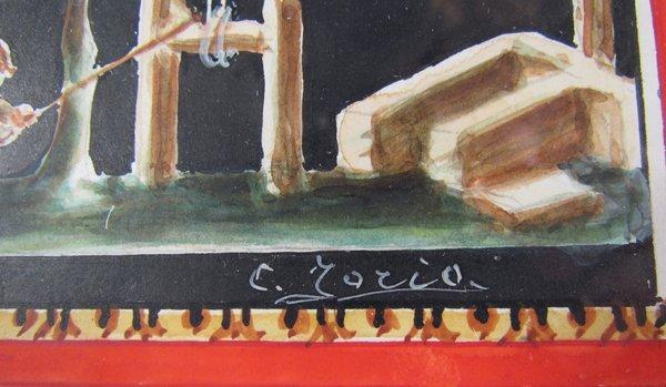 Giovanni Gallo Pompeii watercolor & After Gallo - 6