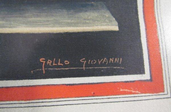Giovanni Gallo Pompeii watercolor & After Gallo - 7
