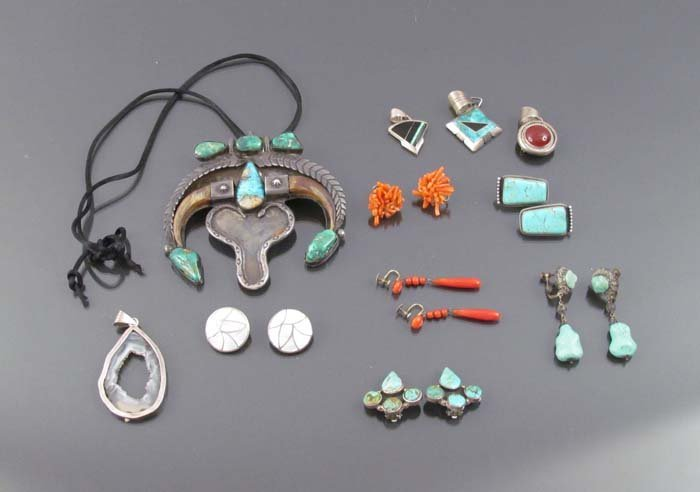 A group of Native American Jewelry