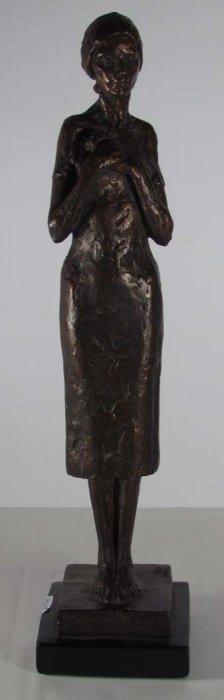 Bronze Painted Plaster Sculpture Of Woman