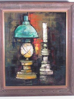 "K. Toma Painting Of ""Lantern & Candle"""