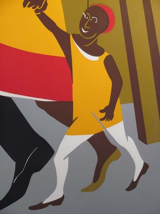 """Jacob Lawrence Orig Serigraph """"the Builders"""" (Family), - 7"""
