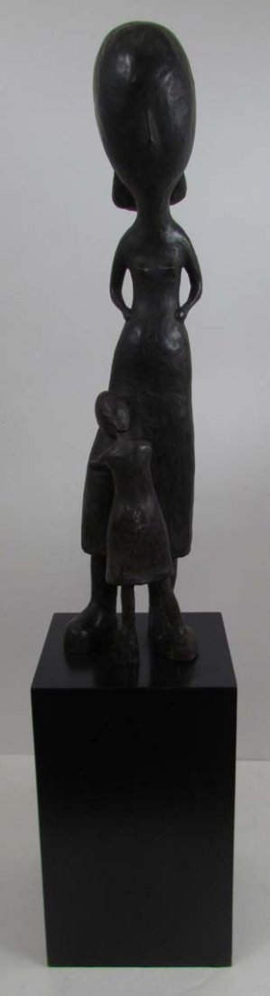 Mother and Child sculpture 1960 Plaster