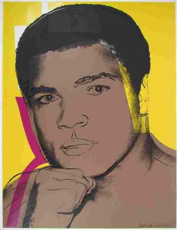"ANDY WARHOL, orig serigraph ""Muhammad Ali"""