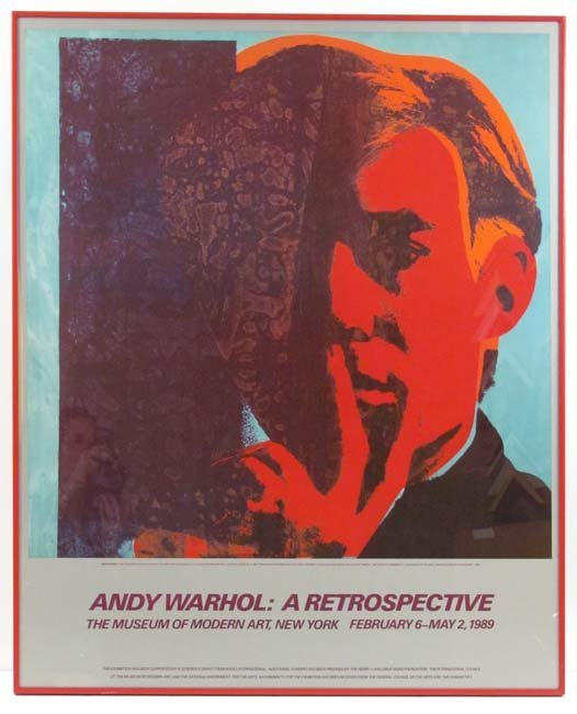 Andy Warhol Retrospective Poster 1989 w/Barbara Kale co
