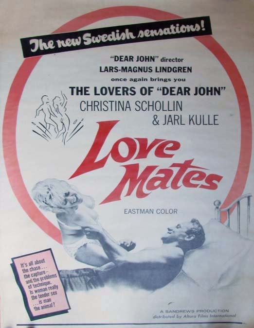 Swedish erotic film poster The Lovers of Dear John