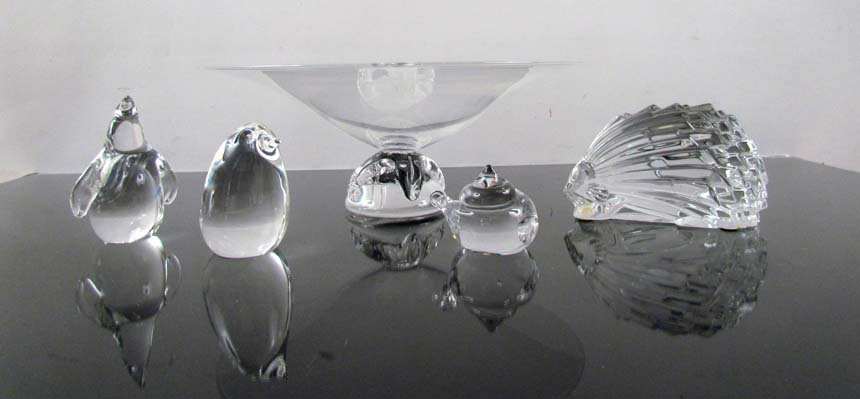 Assorted Crystal Objects including Steuben