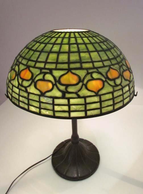 Tiffany Studios Leaded Acorn Lamp