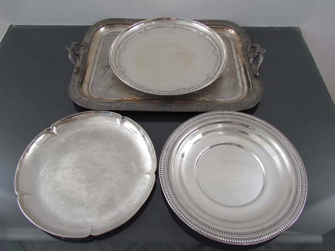 Assorted Sterling Trays