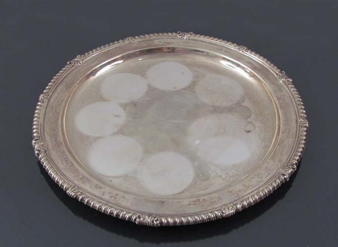 Tiffany & Co. Monogrammed Sterling Tray