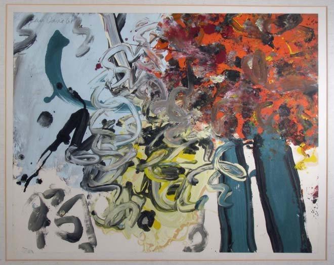 "Alan Davie ptg. On paper ""Miracle of the Burning Tree"""