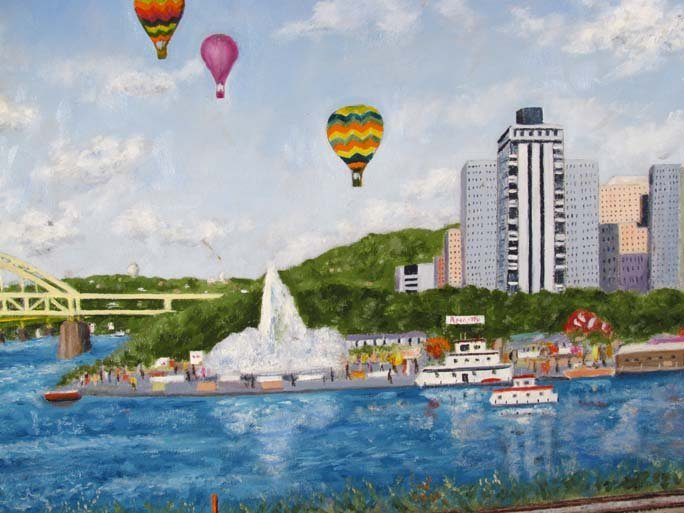 "Ed Shean ptg. ""Hot Air Balloons at The Point"" - 3"