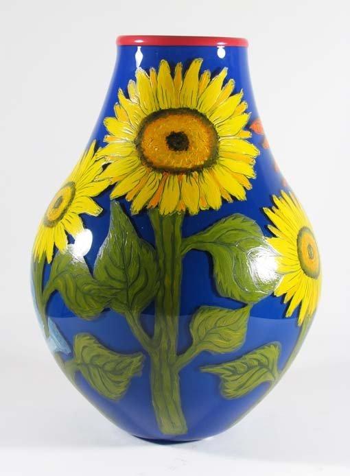 Cappy Thompson Gardening Angel glass vase