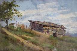 Louis Heitmuller ptg. Old Civil War Block House Fort