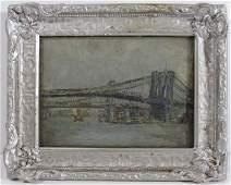 "Joseph Stastny 1922 painting ""Brooklyn Bridge"""