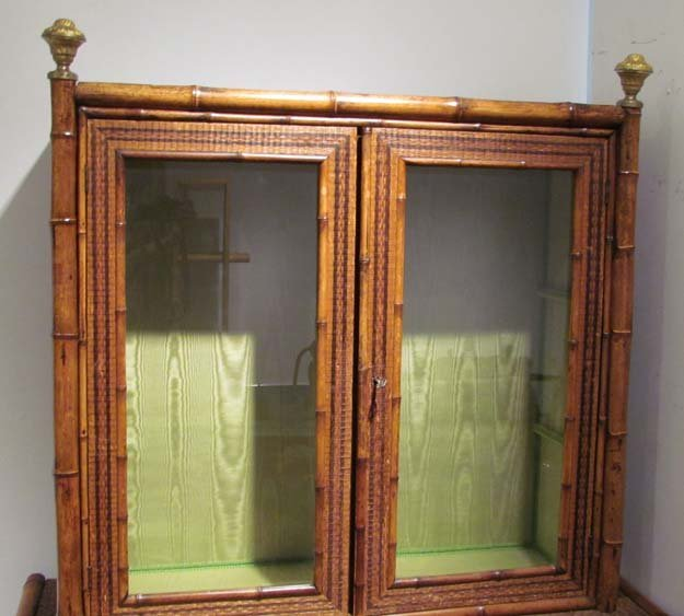Indonesian Style Bamboo and Rattan Bookcase - 2