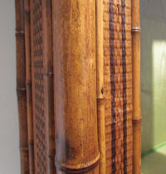 Indonesian Style Bamboo and Rattan Bookcase - 6