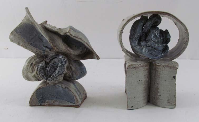 Pair of William Hoffman Jr. Earthenware Sculptures