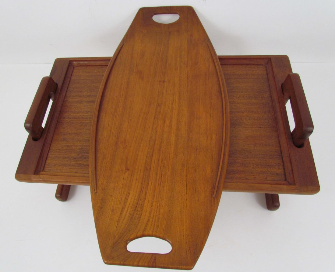 Jens Quistgaard Teak Handled Tray and Breakfast Tray