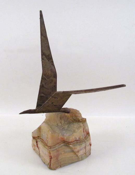 Curtis Jere Seagull in Flight tabletop sculpture