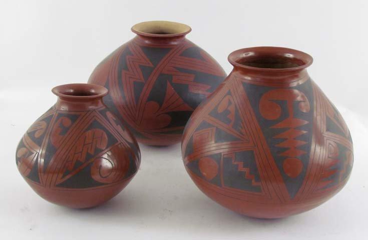 3 redware Casa Grandes Native American Pottery