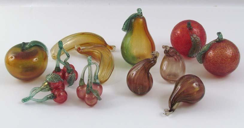Group of Murano Glass Fruit