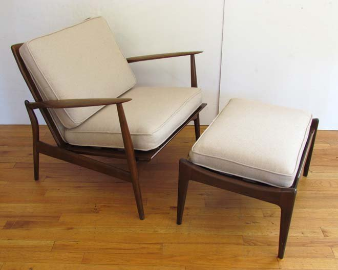 Kofod-Larsen/Selig Lounge Chair & Ottoman