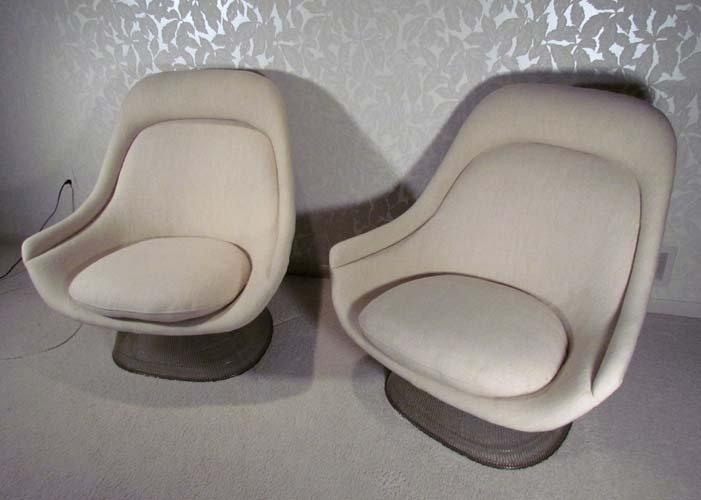 pair Warren Platner Lounge Chairs Model 1705