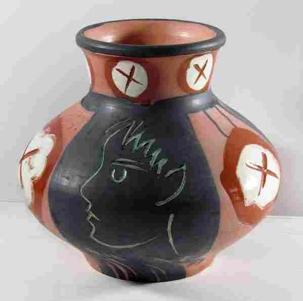 """Picasso """"Visage de Profil"""" large Madoura vase"""